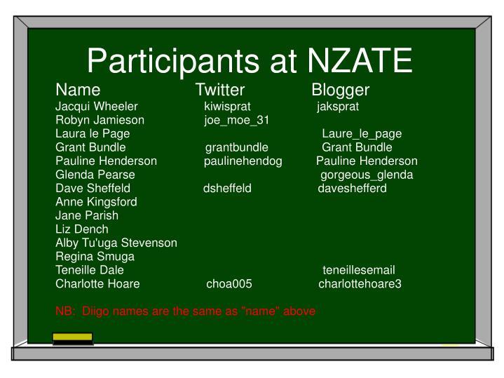 Participants at NZATE