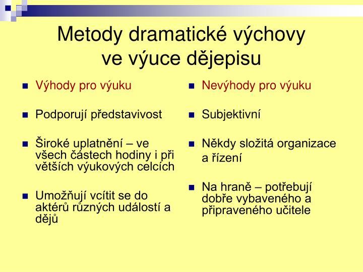 Metody dramatick v chovy ve v uce d jepisu