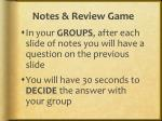 notes review game