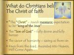 what do christians believe the christ of faith