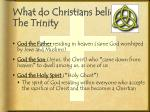 what do christians believe the trinity