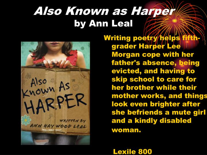 Also known as harper by ann leal