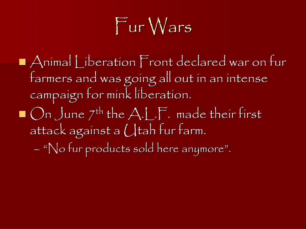 Ppt Alf Animal Liberation Front Powerpoint Presentation