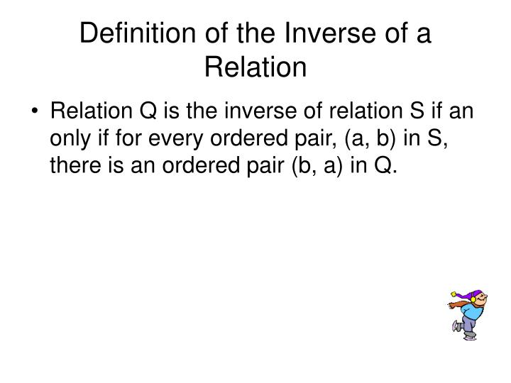 Definition of the Inverse of a Relation