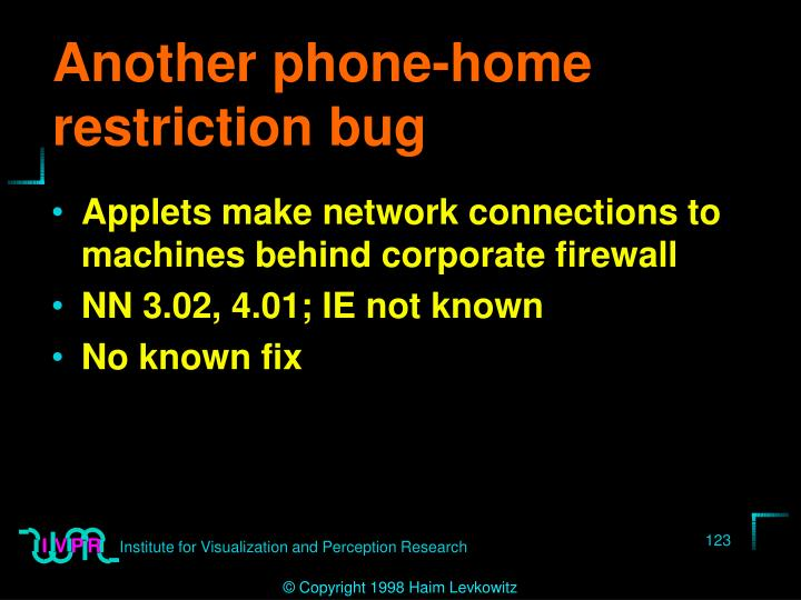 Another phone-home restriction bug