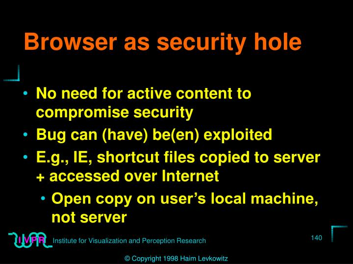 Browser as security hole