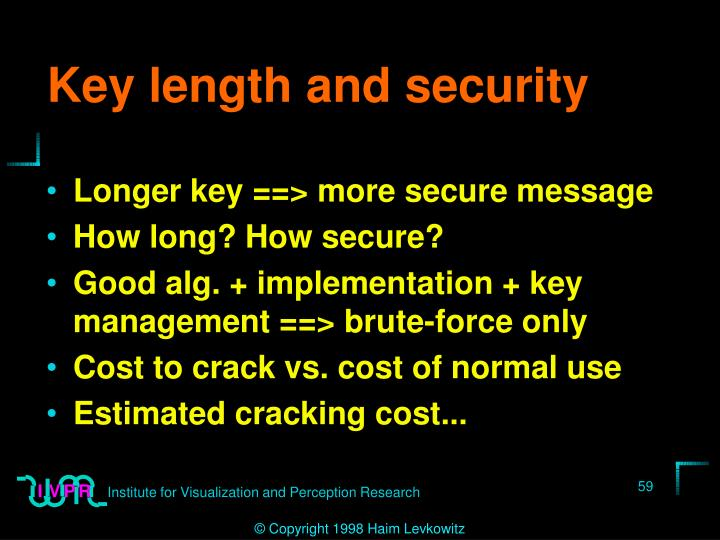 Key length and security