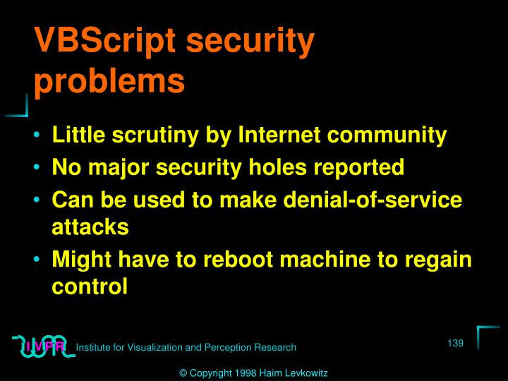 VBScript security problems