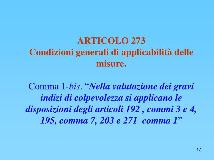 ARTICOLO 273