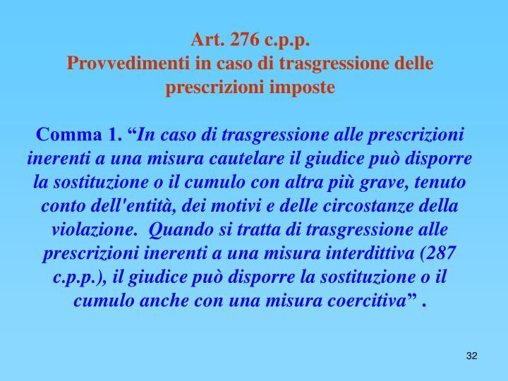 Art. 276 c.p.p.