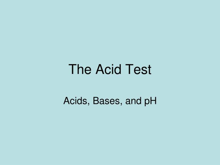 experiment 06 acid base strength of