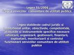 legea 51 2006 legea serviciilor comunitare de utilitati publice