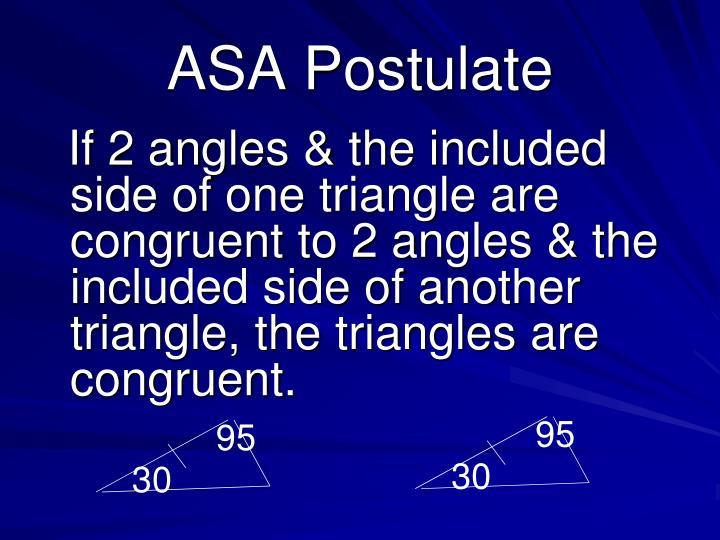 ASA Postulate
