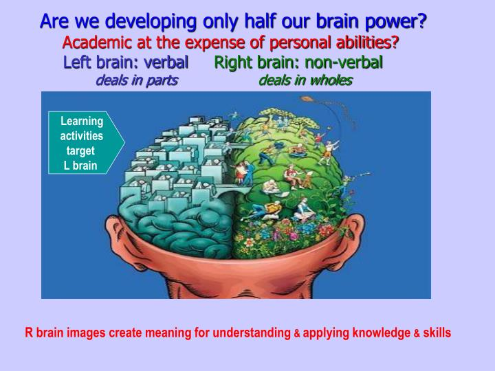 Are we developing only half our brain power?