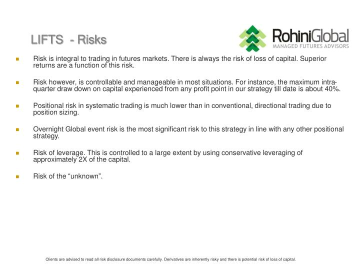 LIFTS  - Risks