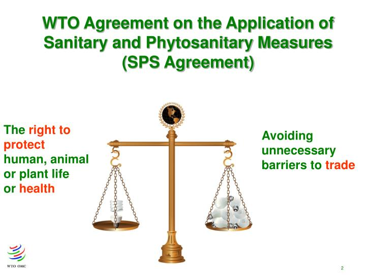 WTO Agreement on the Application of Sanitary and Phytosanitary Measures