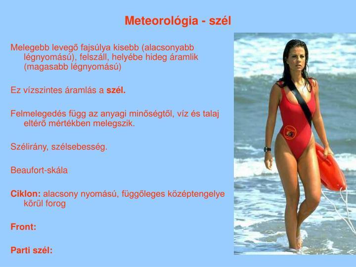 Meteorológia - szél