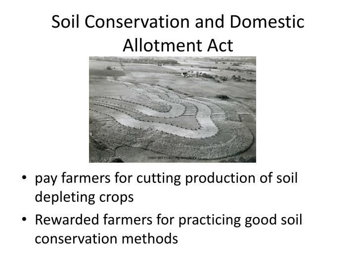 Ppt 23 2 second new deal takes hold powerpoint for Soil conservation act