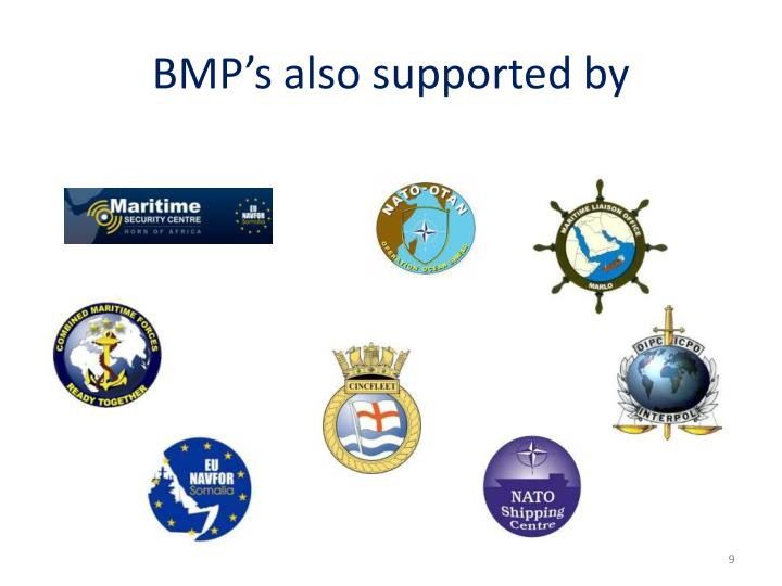 BMP's also supported by