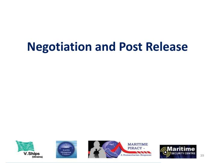 Negotiation and Post Release