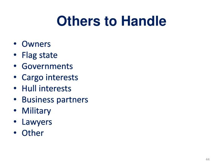 Others to Handle