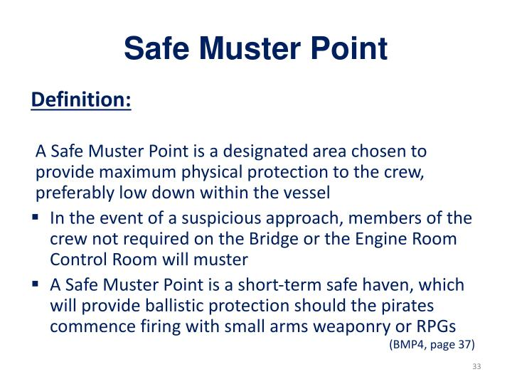 Safe Muster Point