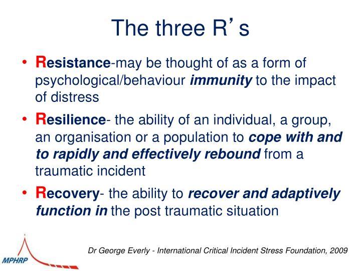 The three R