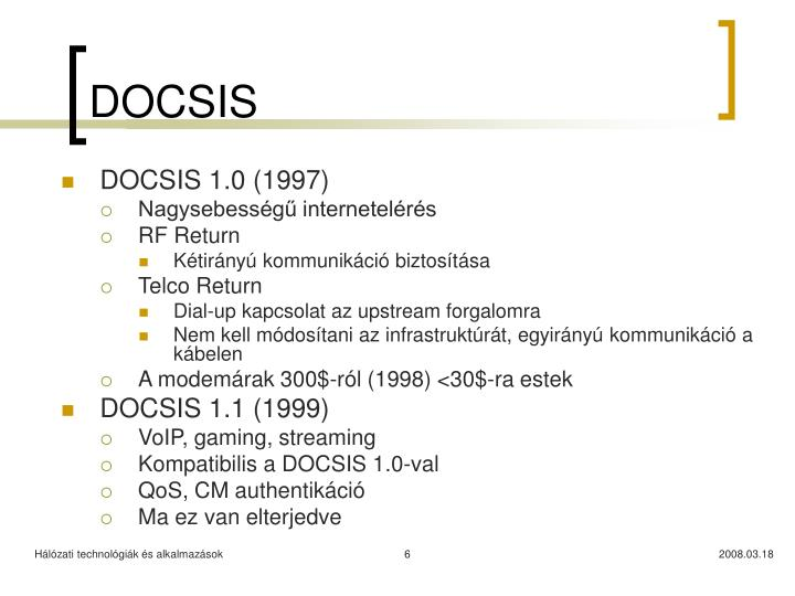 DOCSIS