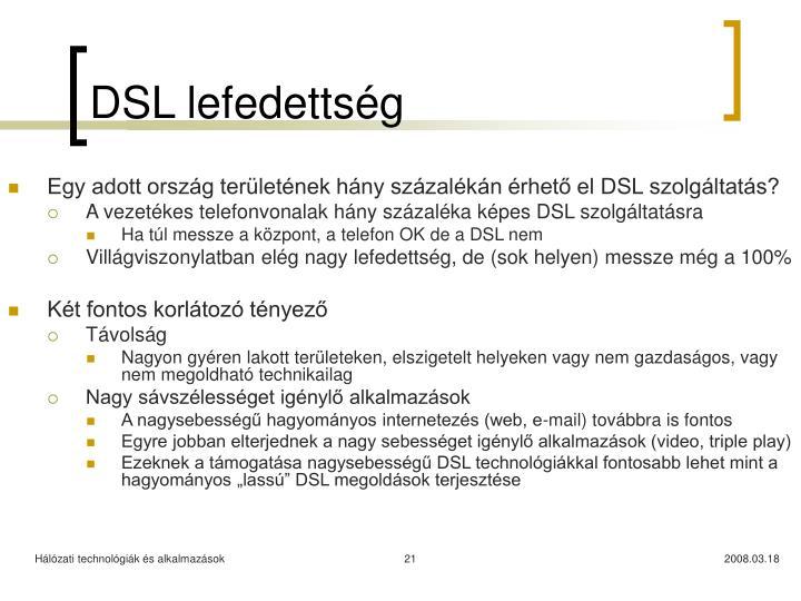 DSL lefedettség