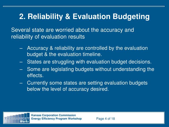 2. Reliability & Evaluation Budgeting