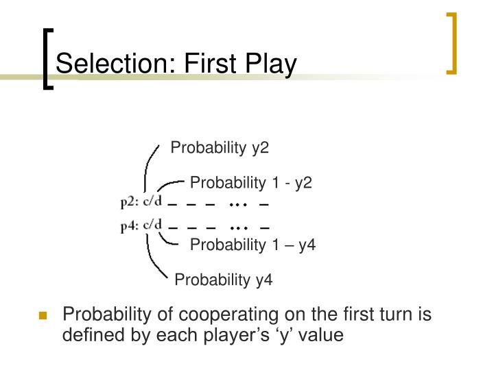 Selection: First Play