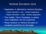 vertical zonation cont