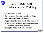 volcanic ash education and training
