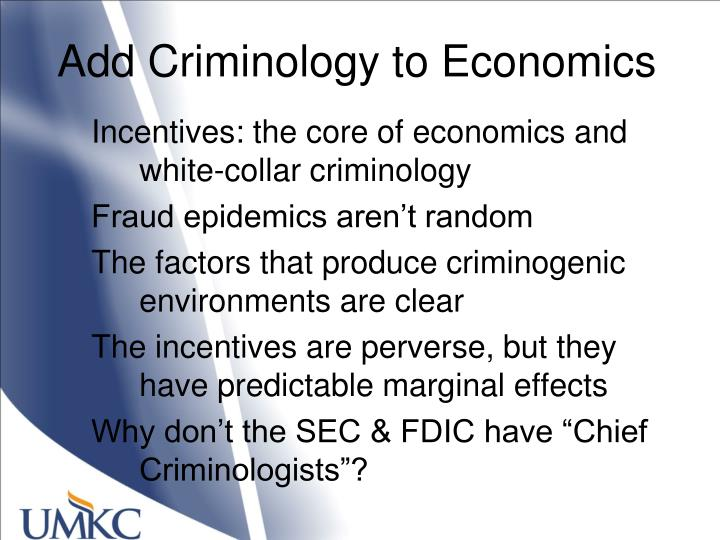 Add Criminology to Economics