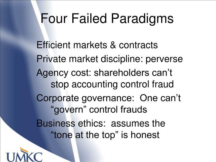 Four Failed Paradigms