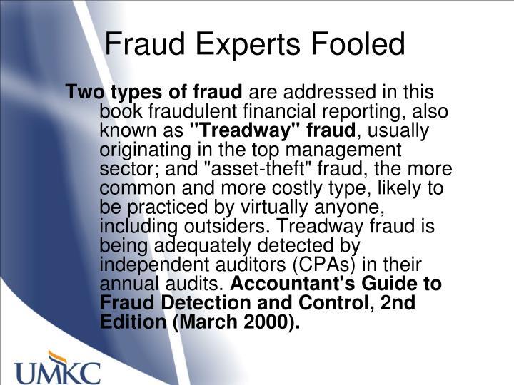 Fraud Experts Fooled
