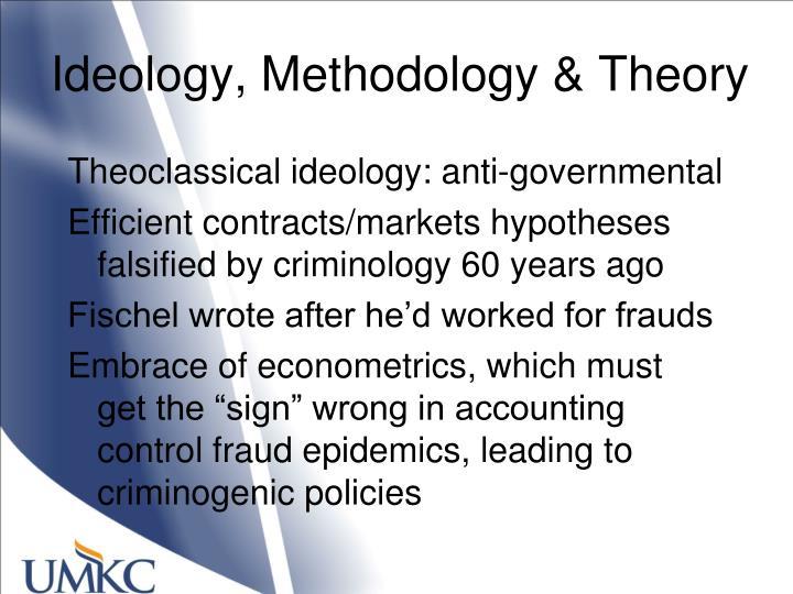 Ideology, Methodology & Theory