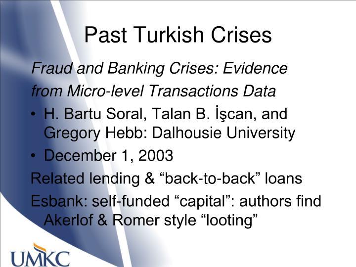 Past Turkish Crises