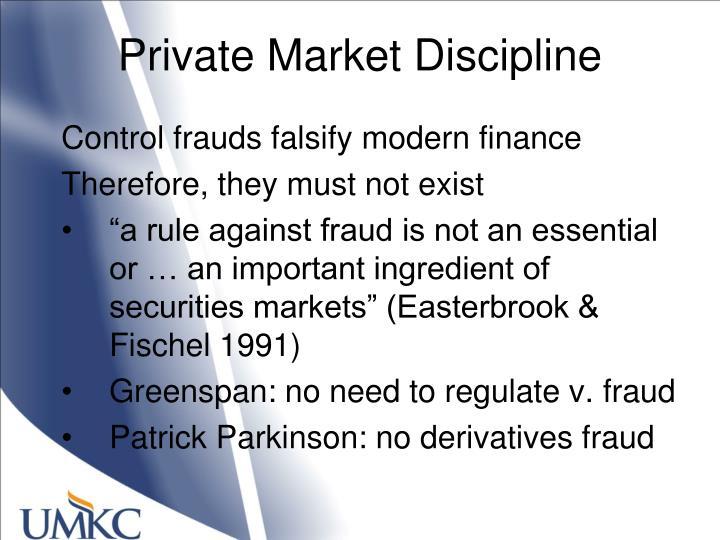 Private Market Discipline