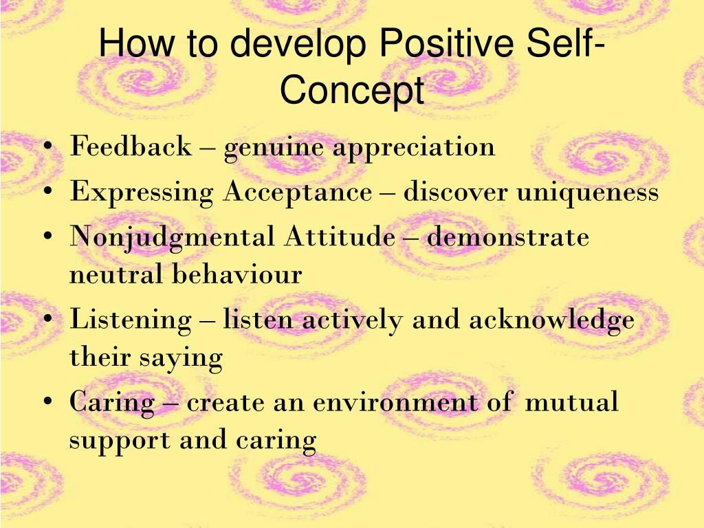 Ways to improve self concept