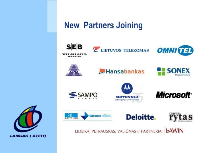 New  Partners Joining