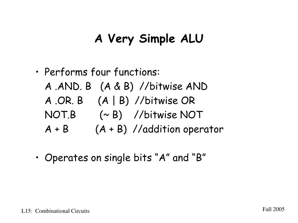 PPT - Lecture 15: Combinational Circuits PowerPoint