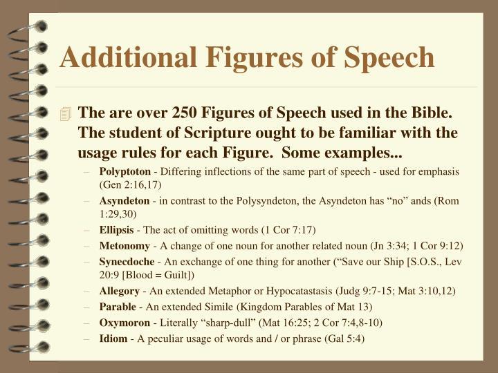 Additional Figures of Speech
