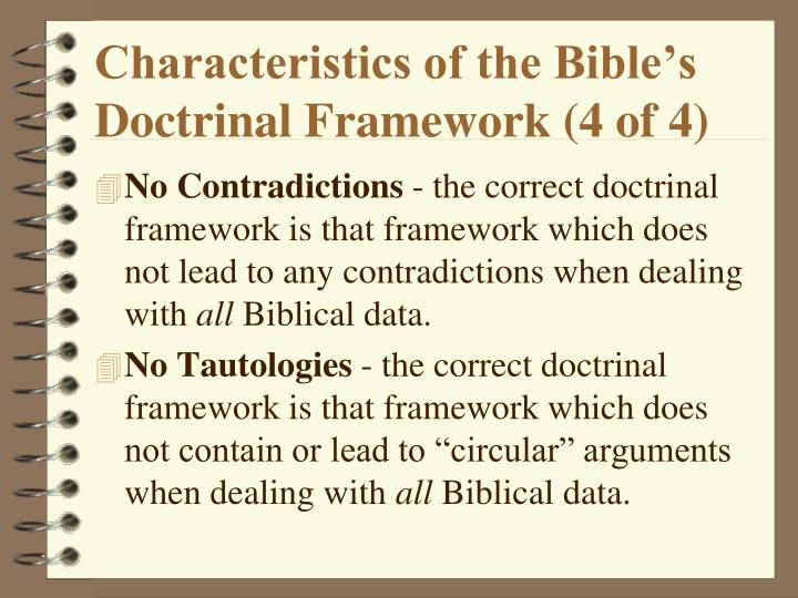 Characteristics of the Bible's Doctrinal Framework (4 of 4)