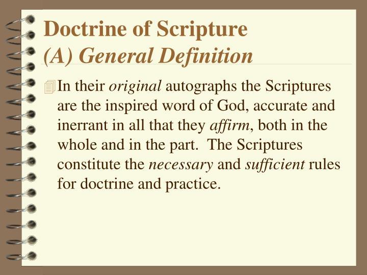 Doctrine of Scripture