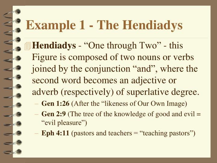 Example 1 - The Hendiadys