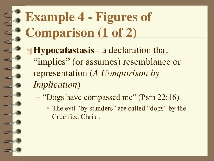 Example 4 - Figures of Comparison (1 of 2)