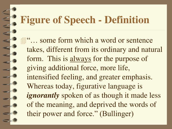 Figure of Speech - Definition