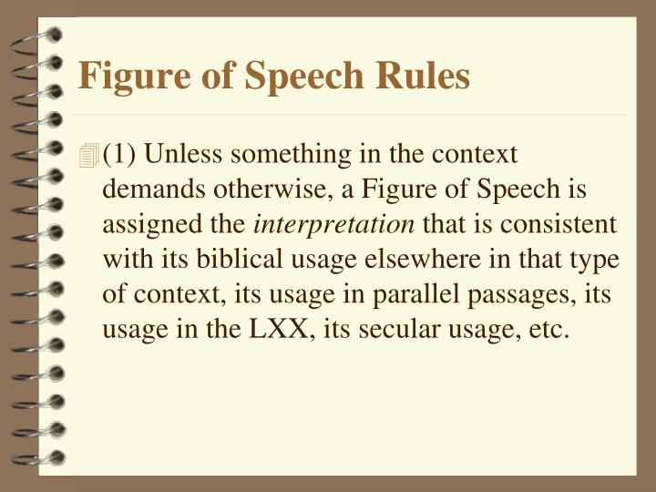 Figure of Speech Rules