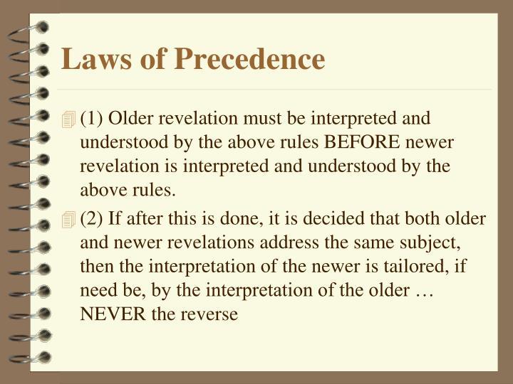 Laws of Precedence